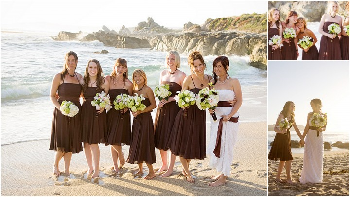 Bride with Bridal party on the beach