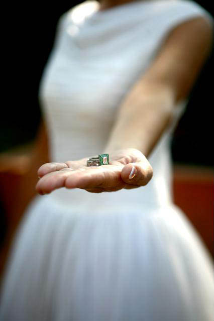 bride with rings