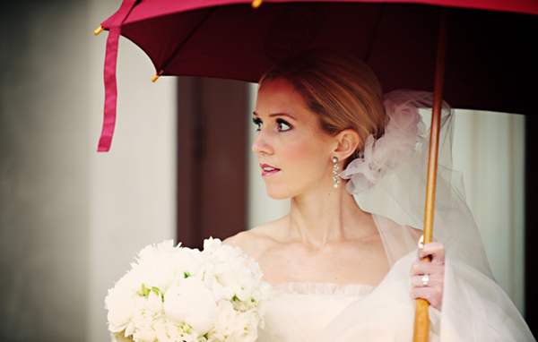 Bride with Red umbrella