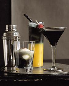 Martha Stewart spooky cocktails