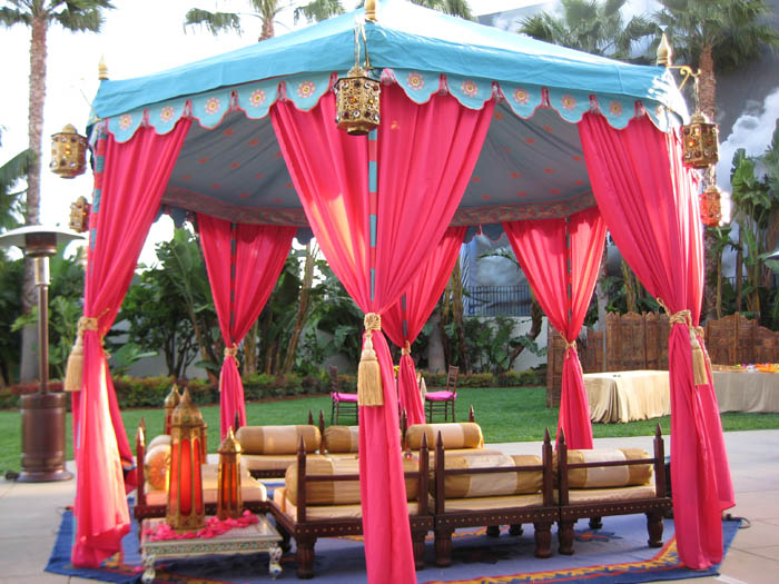 Turquoise and hot pink pavilion