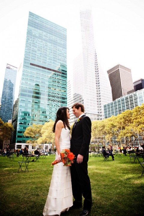 wedding in Bryant park