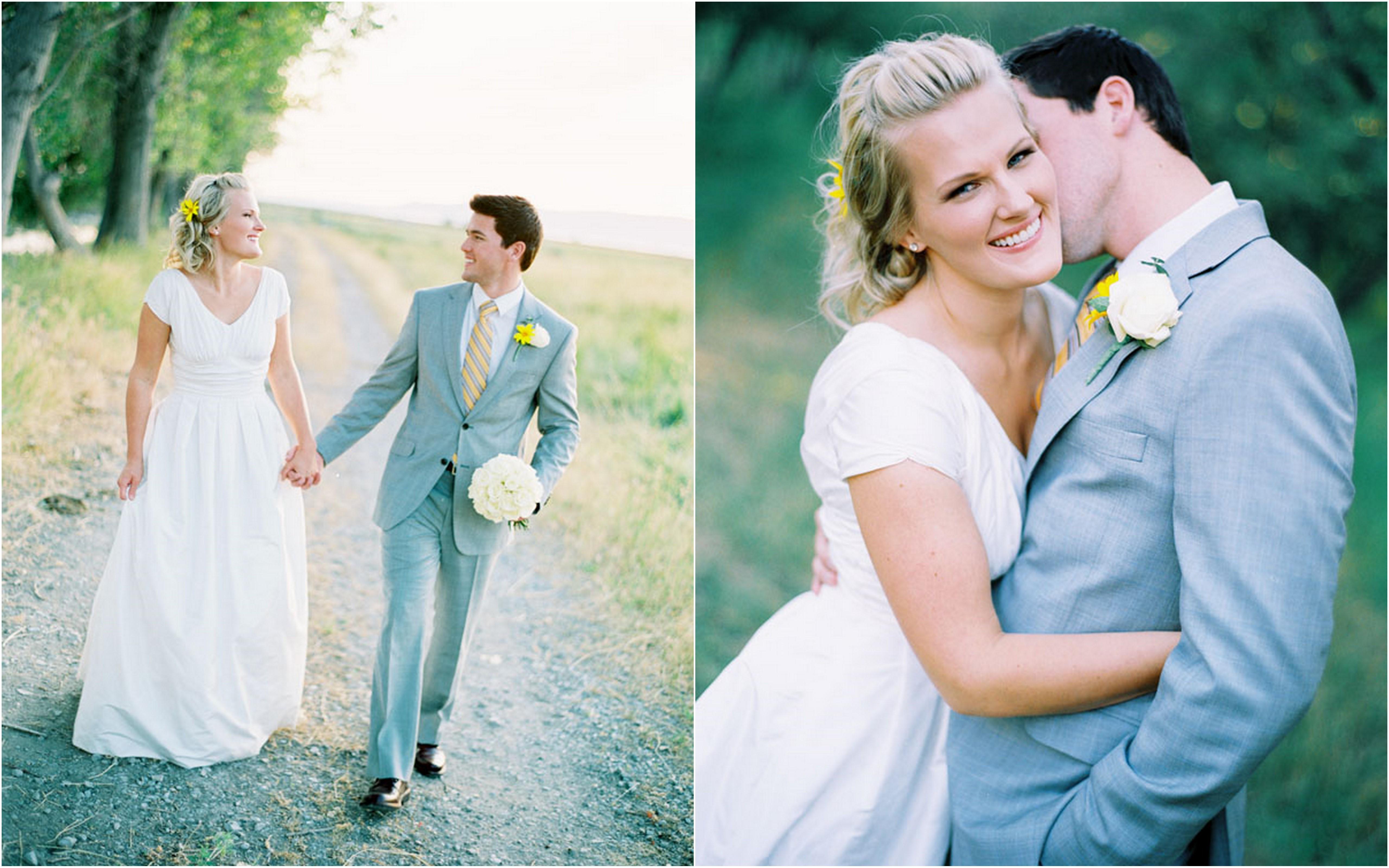 Yellow and Gray Arizona Desert Wedding - Inspired By This