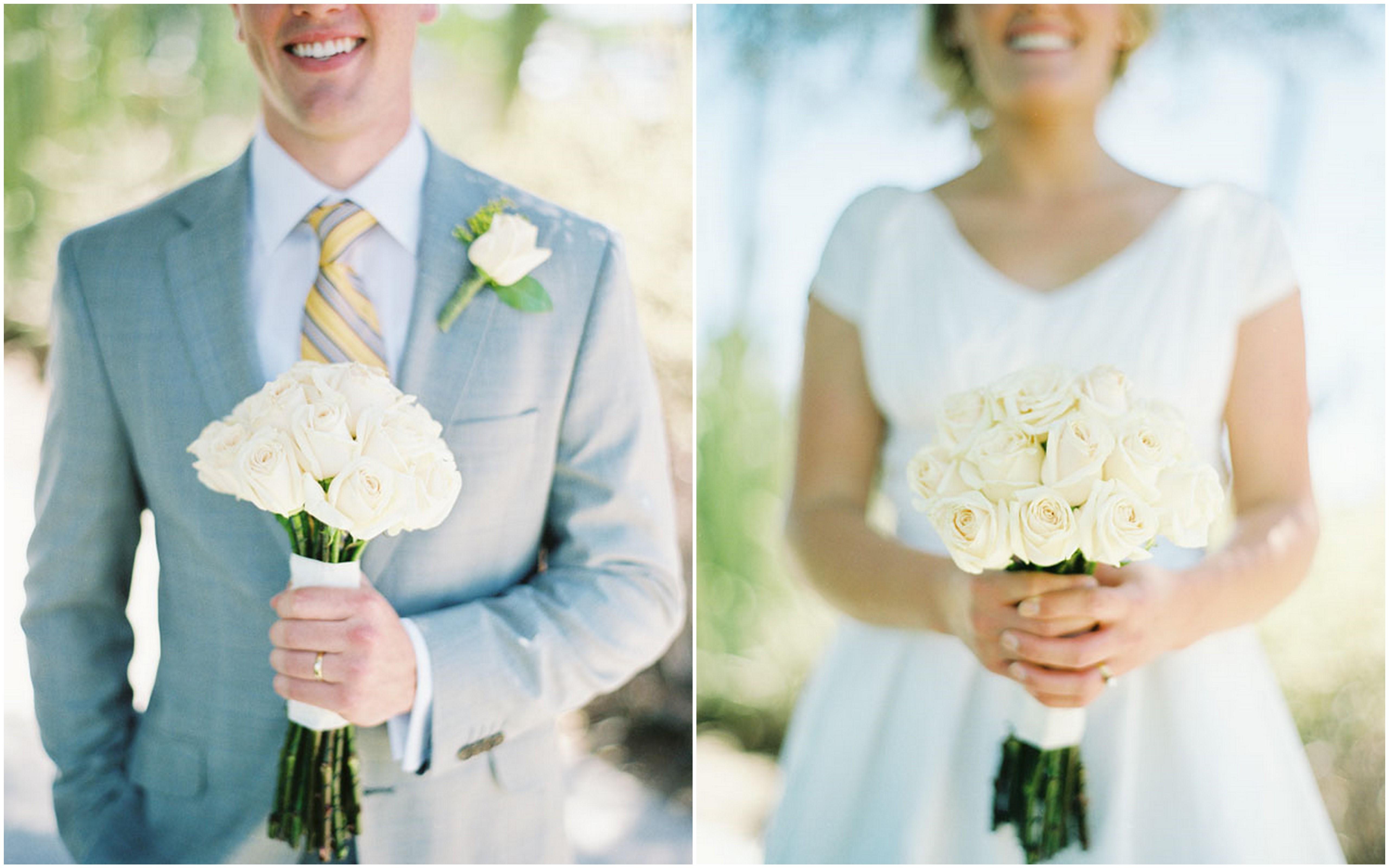 Yellow And Gray Arizona Desert Wedding