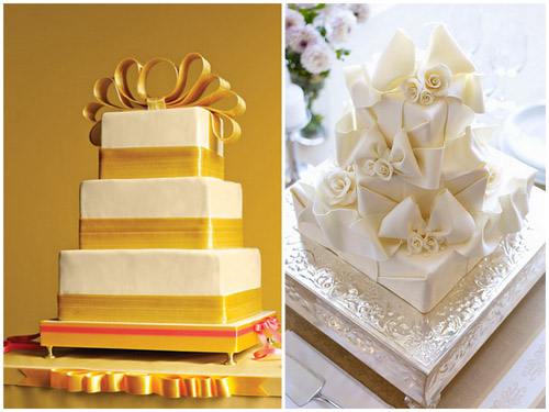 bows on cakes