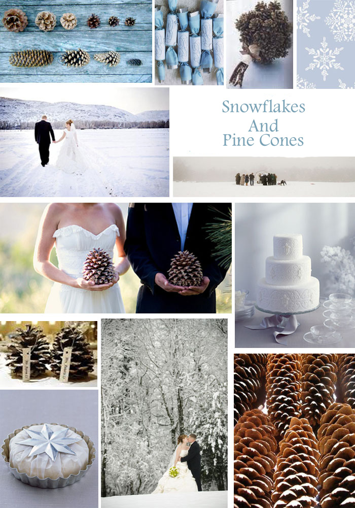 Snow Flakes and Pine cones copy