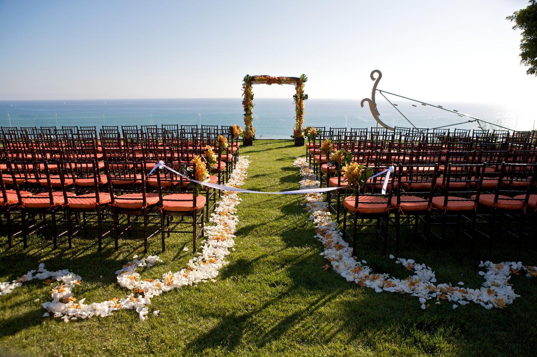 Beach Ceremony: Bright, Modern, Orange And Lime Beach Wedding