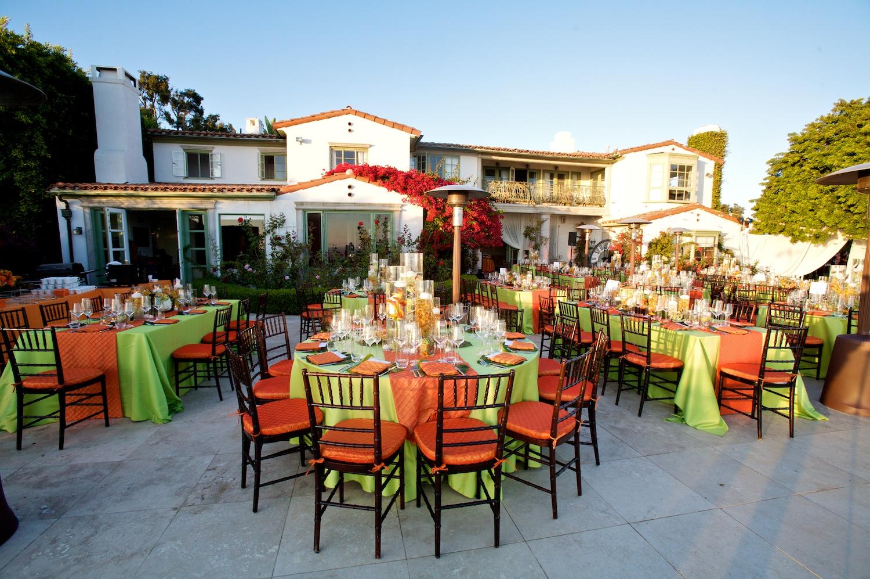 bright, modern, orange and lime beach wedding - inspiredthis