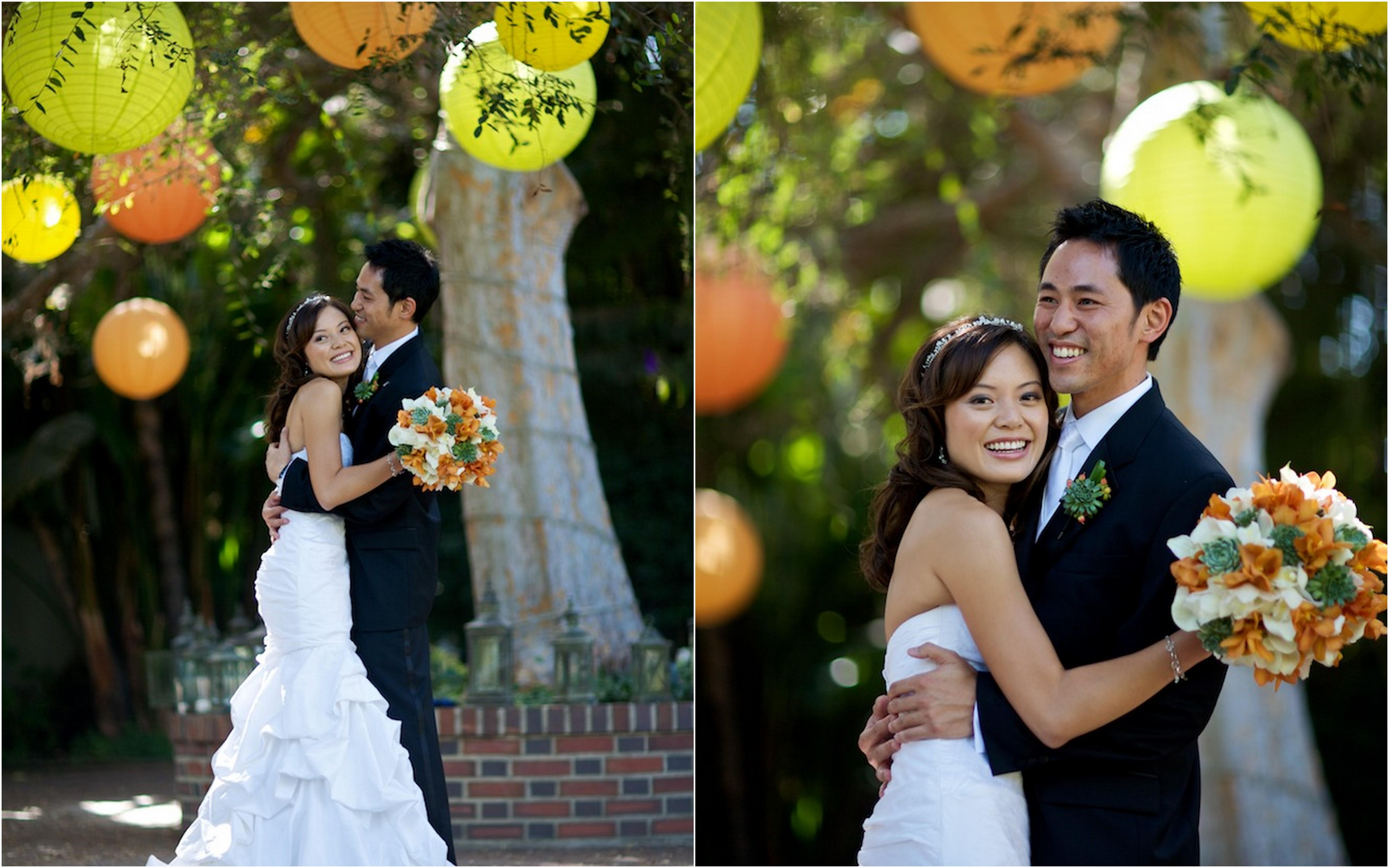 unique orange and yellow wedding decorations wedding