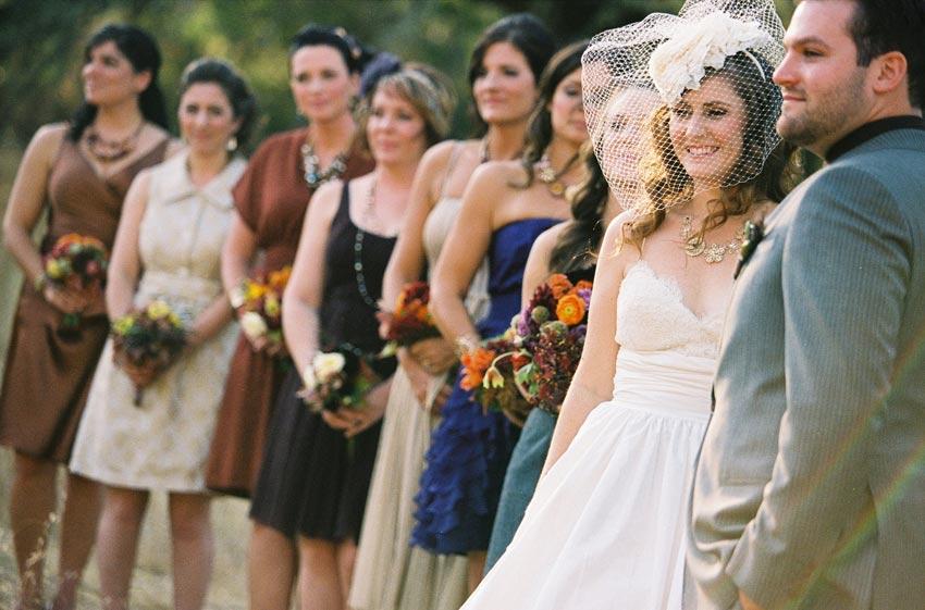 Vintage Color Bridesmaid Dresses