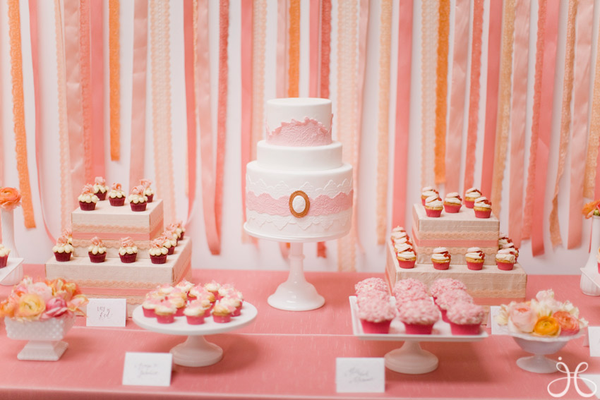 Inspired by my coral peach and blush pink los angeles bridal shower i junglespirit Images