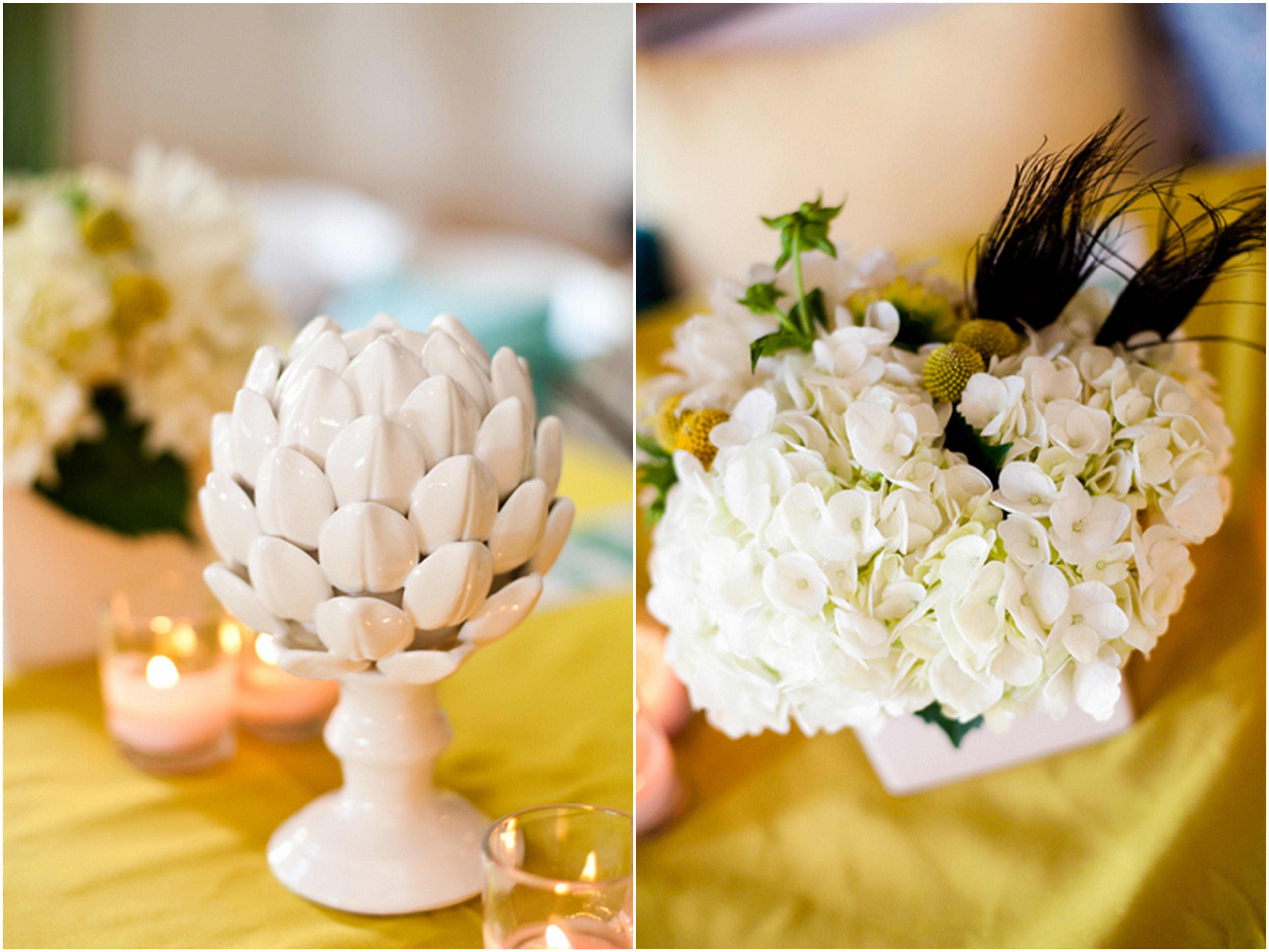 Inspired by This Real Wedding ? Yellow and Peacock Bowtie Themed