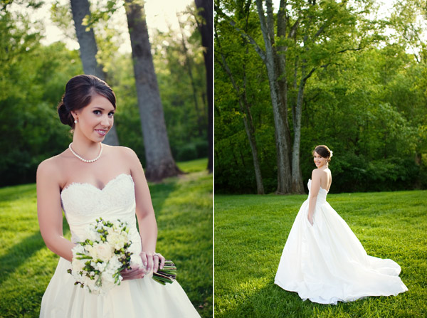 Crystal genes photography pearl necklace strapless wedding dress