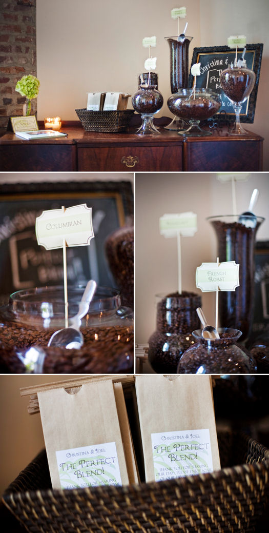 Inspired by these coffee and caf inspired wedding details for Coffee bar for wedding