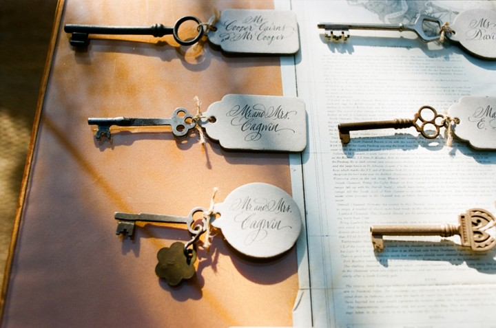 Inspired by These Vintage Keys used as Wedding Decor - Inspired By This