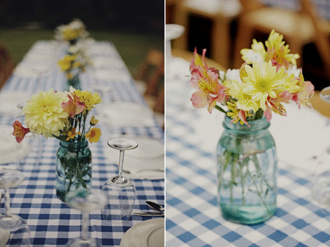 Backyard rustic rehearsal dinner inspired by this