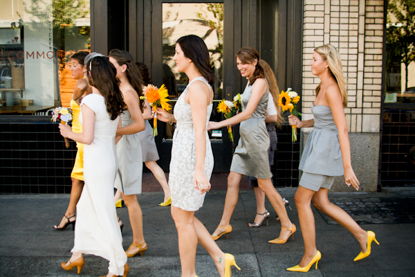 Charming Yellow and Grey Portland Wedding - Inspired By This