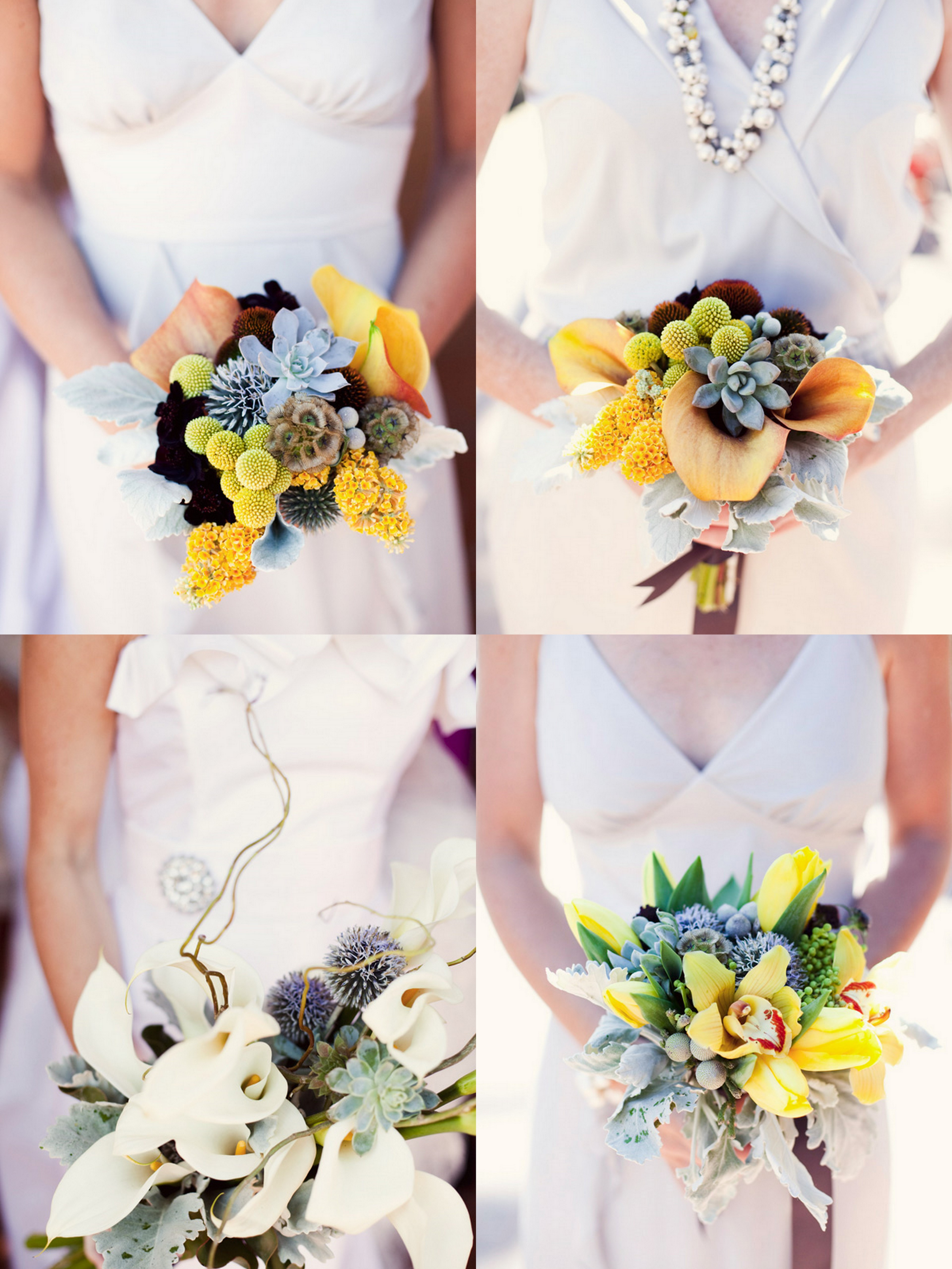 Fresh White And Yellow Southern California Beach Wedding With An