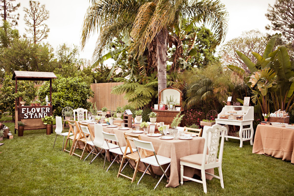 Outdoor Country Wedding Shower Ideas: Inspired By Ashley's Vintage Garden And Blueberry Bridal
