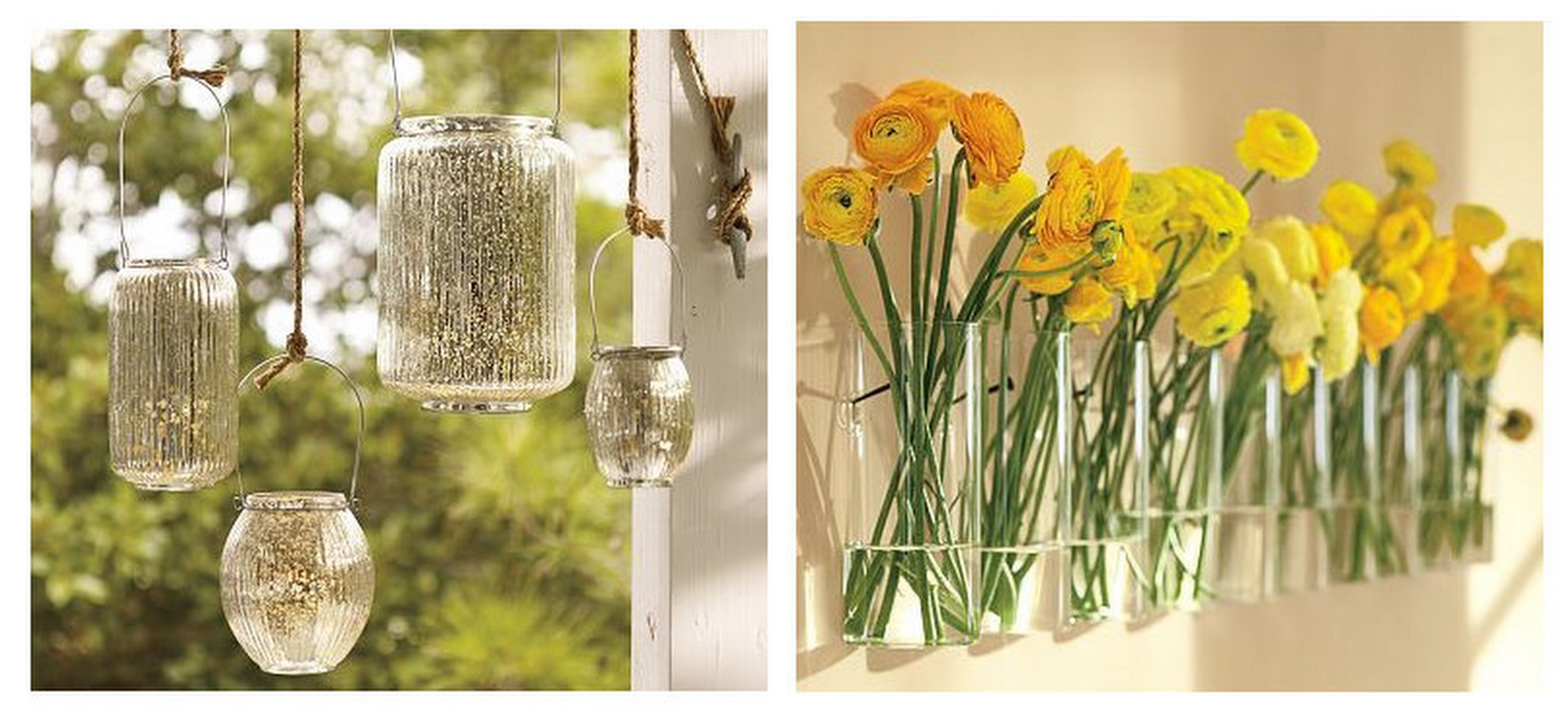 Inspired by these pottery barn weddings inspired by this paros mercury glass lanterns simple wall mount vase reviewsmspy