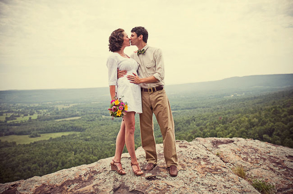 Inspired by these scenic mountain weddings inspired by this for Casual mountain wedding dresses