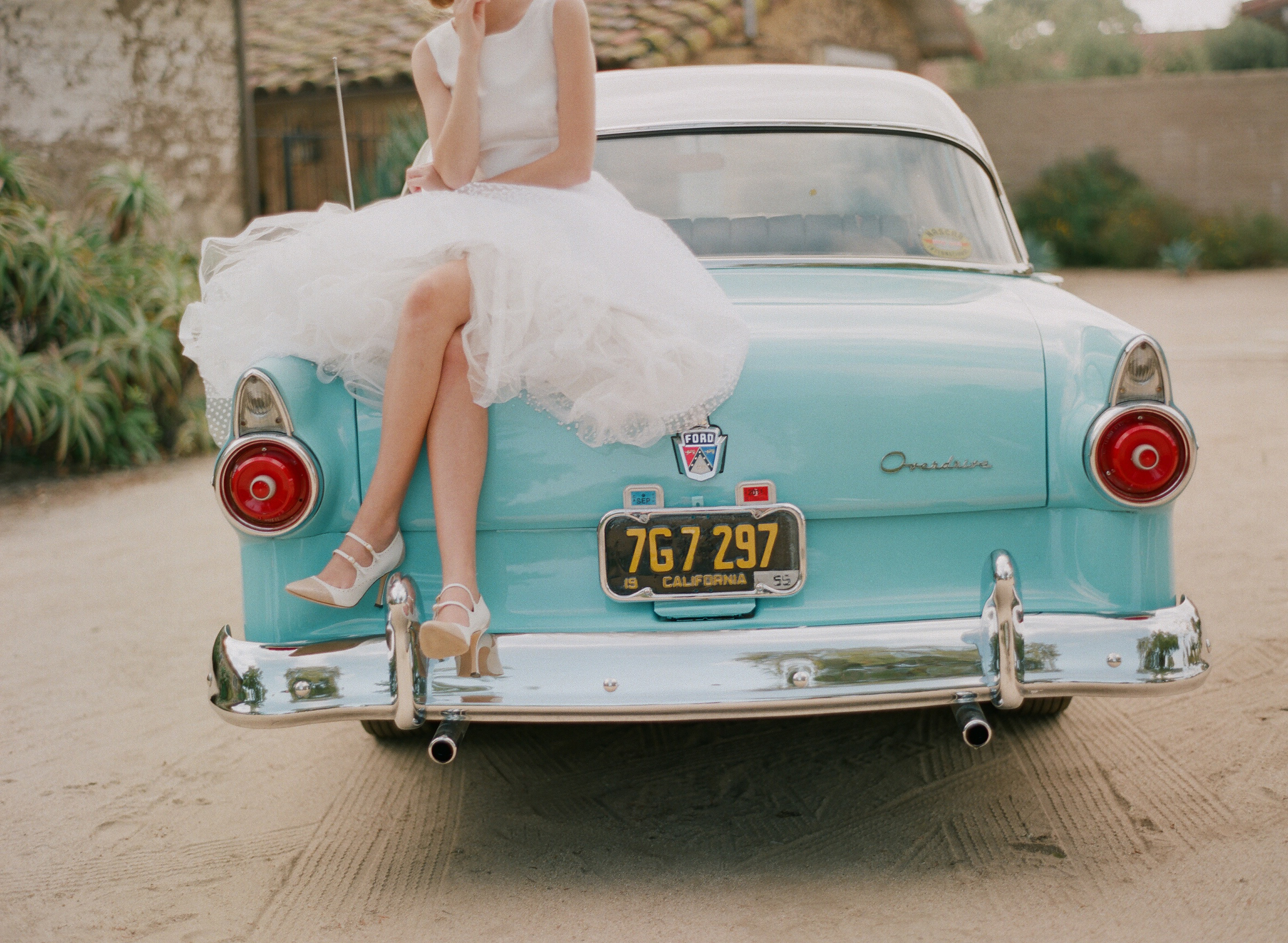 Inspired by these vintage wedding dresses from ruffled for Antique car decor