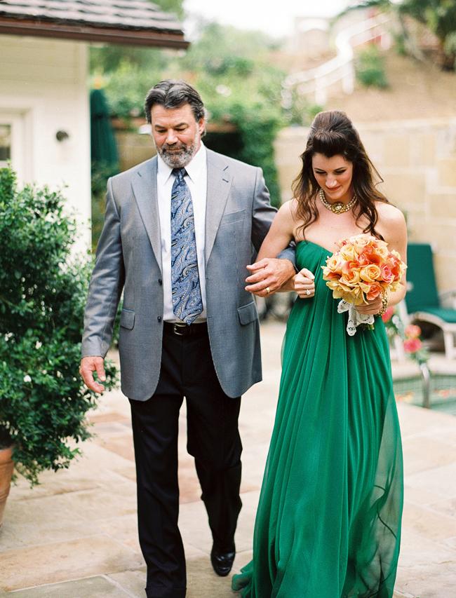 Inspired by This Santa Barbara Green Wedding Dress Wedding