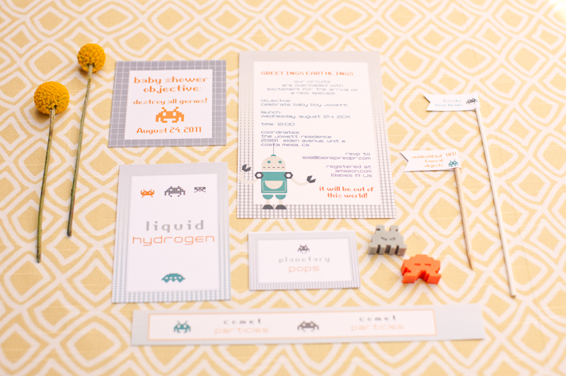robot themed baby shower inspired by this