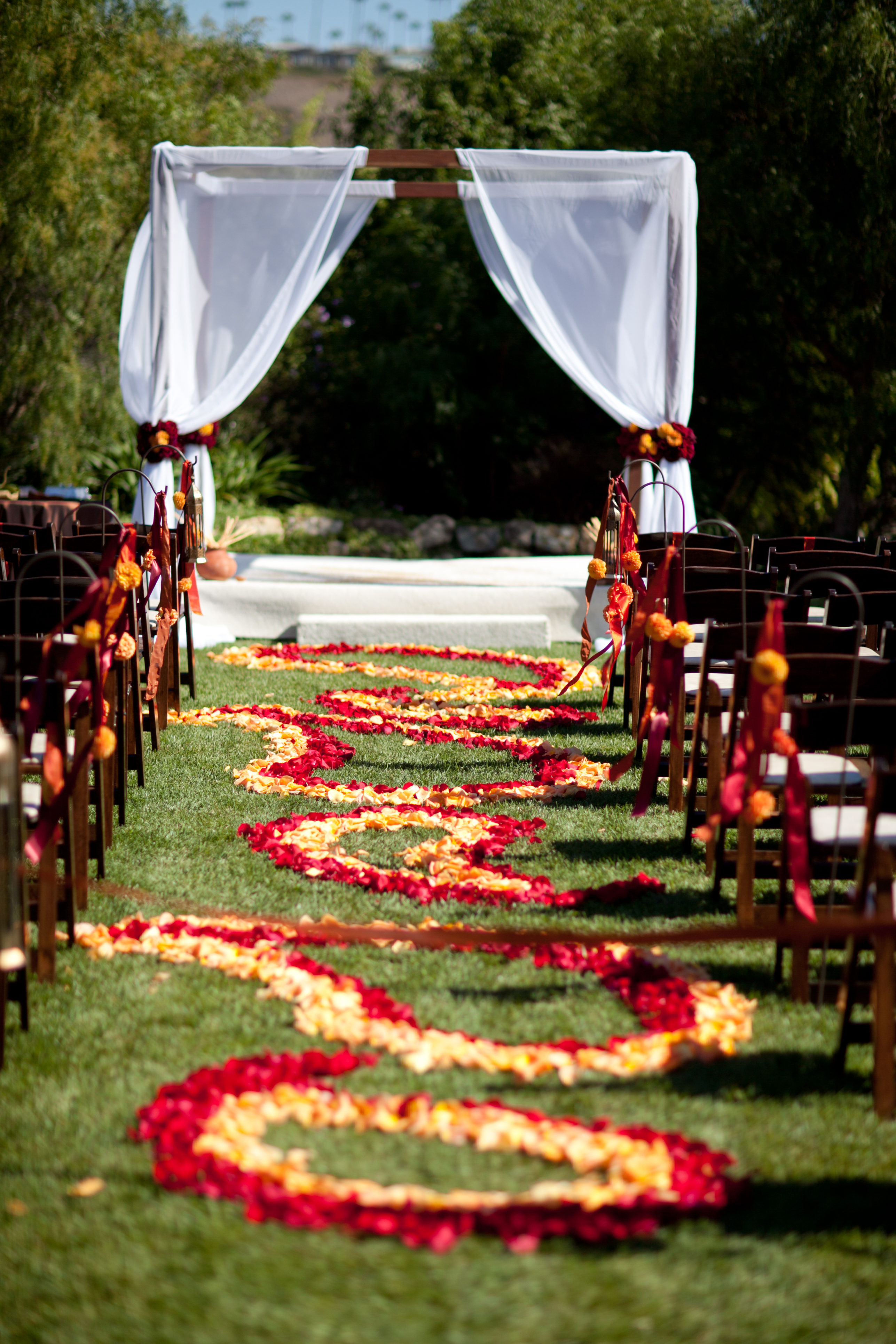 Bold Red Gold And Ivory Sri Lankan Wedding At The Church Estate In Malibu