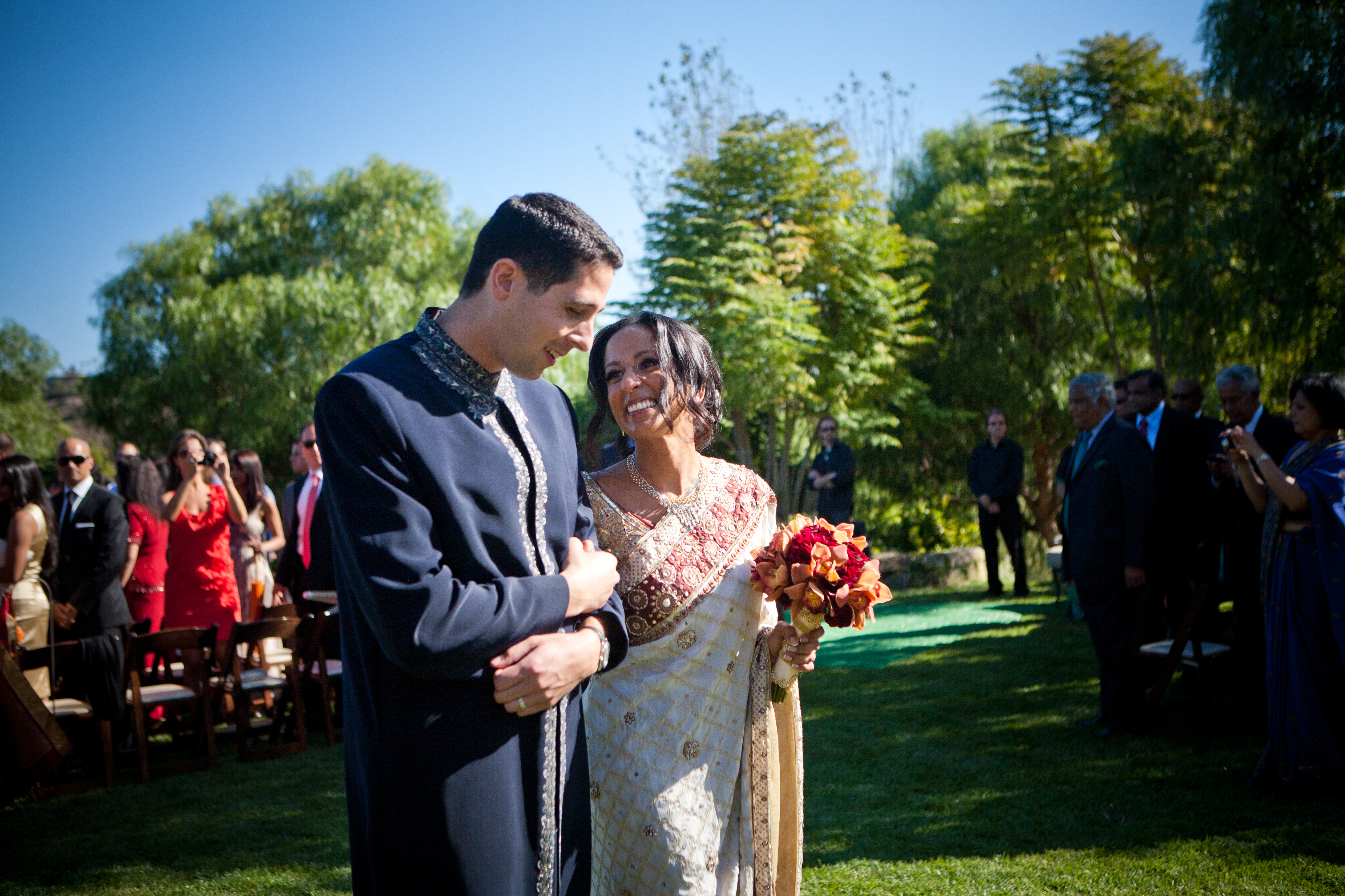 Bold Red Gold And Ivory Sri Lankan Wedding At The Church Estate In