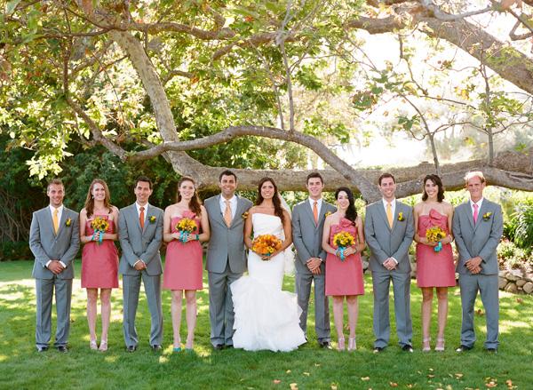Turquoise Orange And C Malibu Wedding Inspired By This