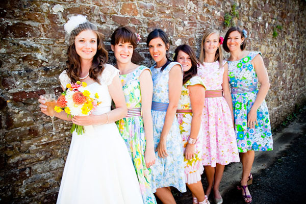 Inspired by These Patterned Bridesmaids Dresses - Inspired By This