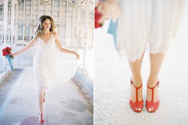 Short Wedding Dress Colored Shoes List Of Dresses