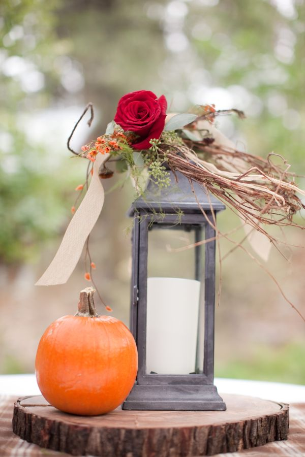 Fall and pumpkin outdoor california wedding inspired by this