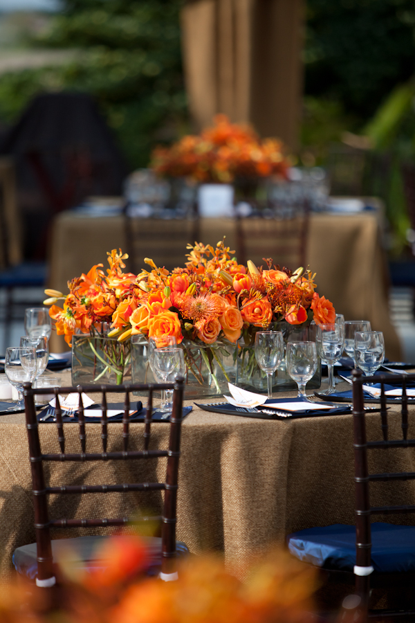 Orange And Blue Southern Rehearsal Dinner Inspired By This