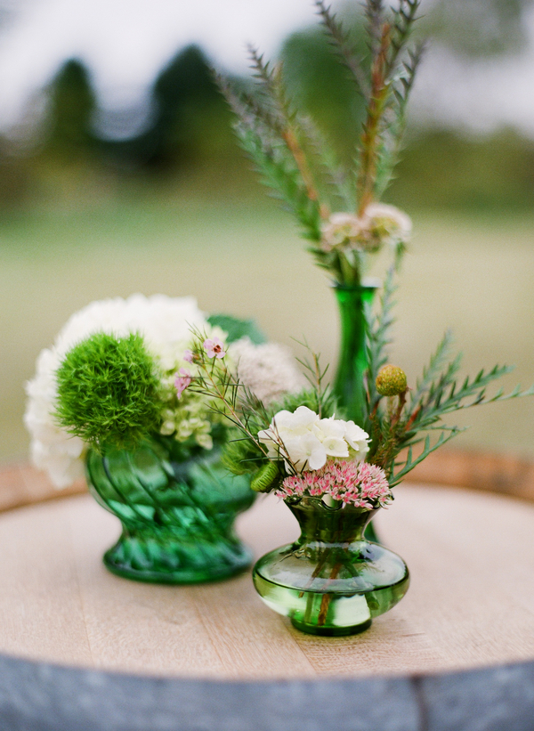 rustic wedding centerpiece wildflowers