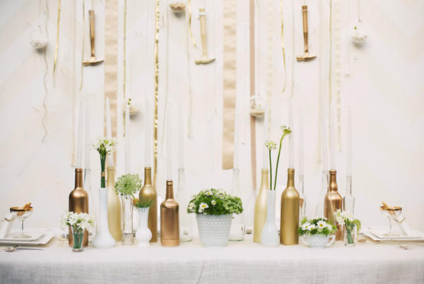 Inspired by Glittering Gold Wedding Ideas Inspired By This