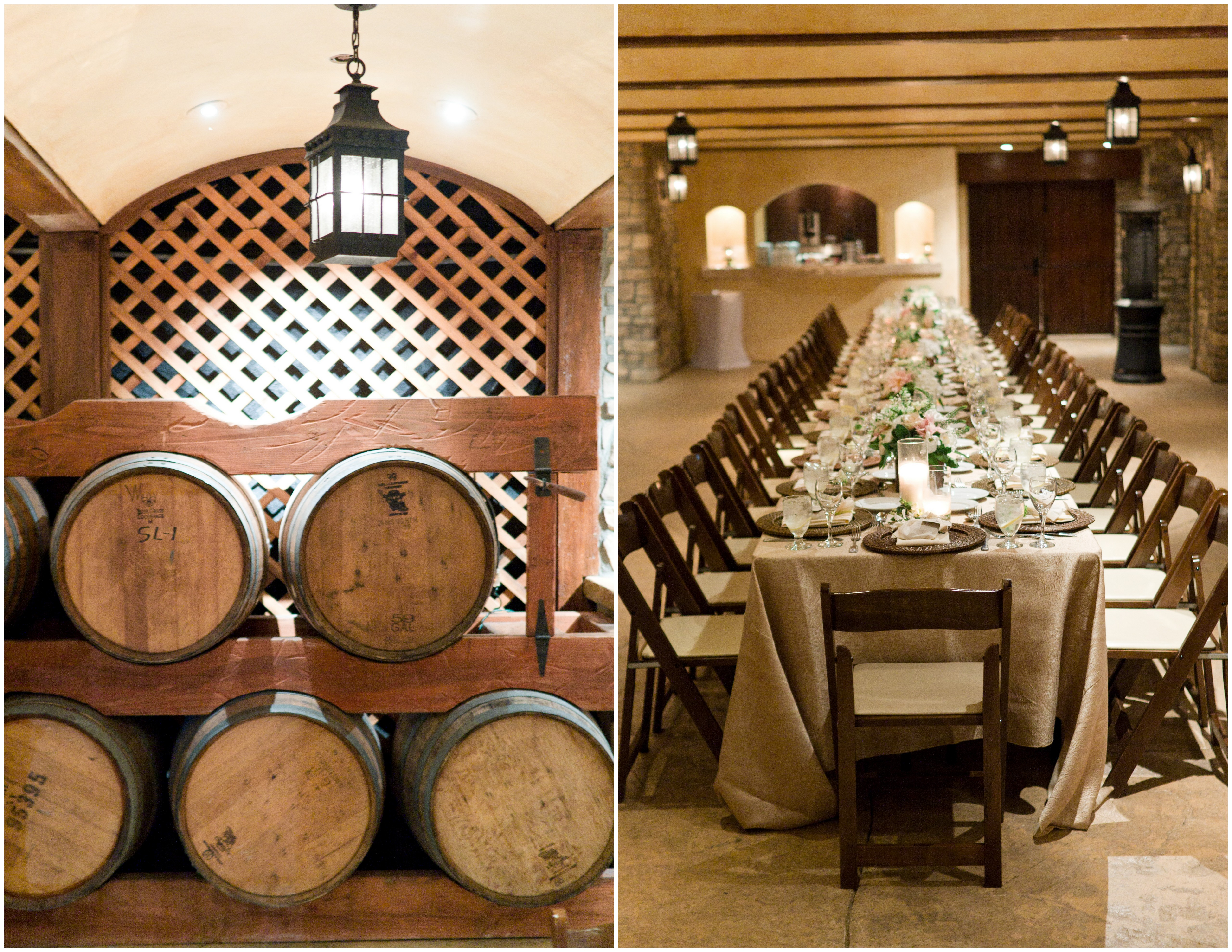 wine cellar rehearsal dinner inspired by this