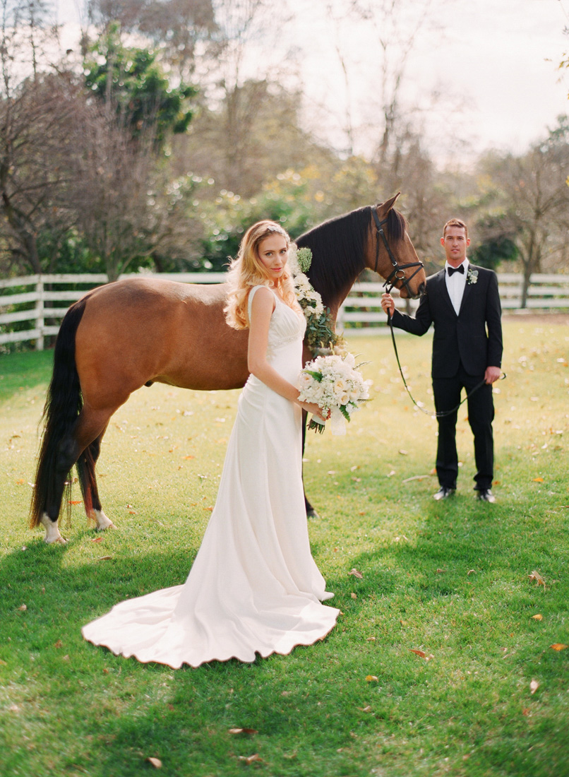 inspired by this equestrian garden wedding shoot