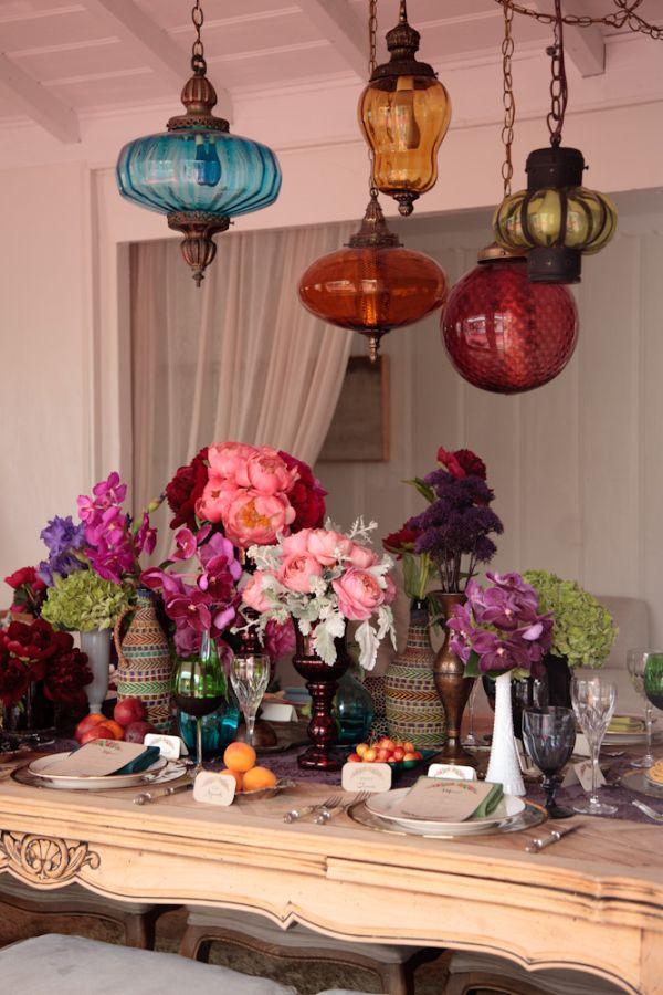 Bohemian Style Decor: Inspired By This Bohemian Rehearsal Dinner Idea