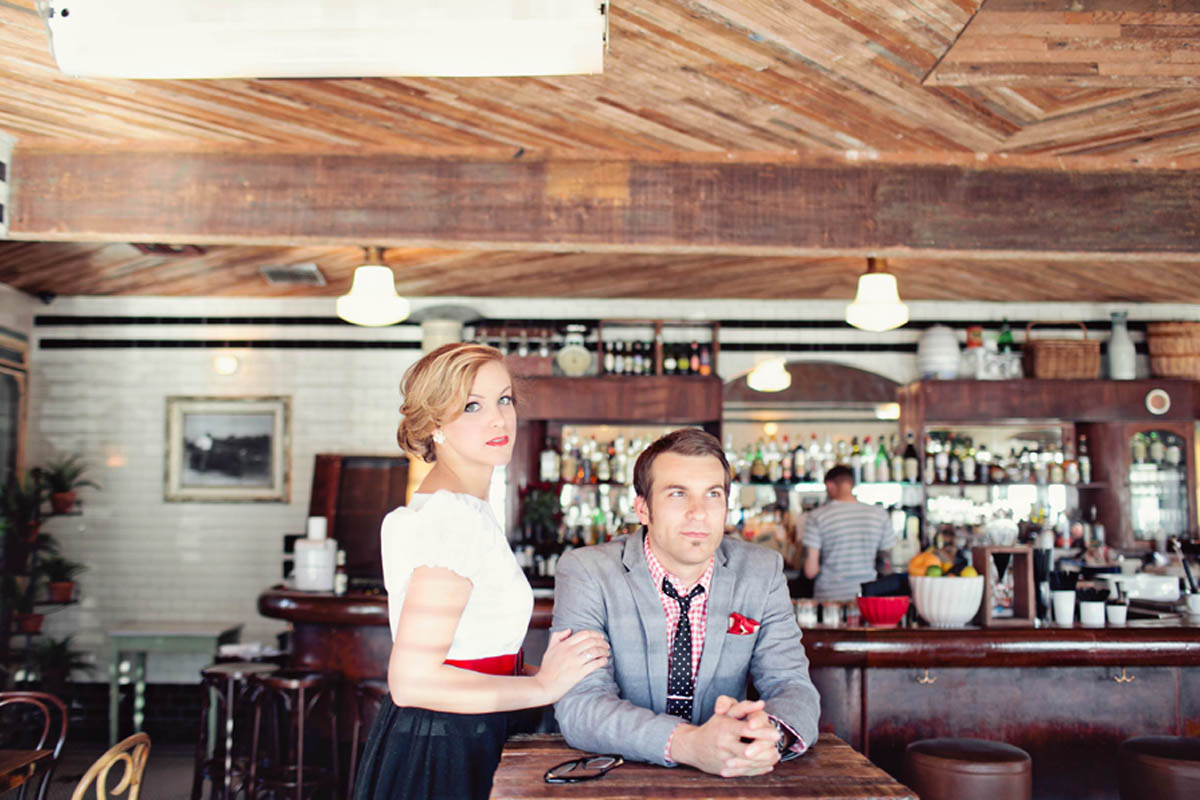 Vintage Diner Themed Love Shoot Inspired By This