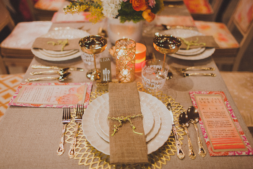 Inspired By This Neon Tablescape With Chains And Graffiti