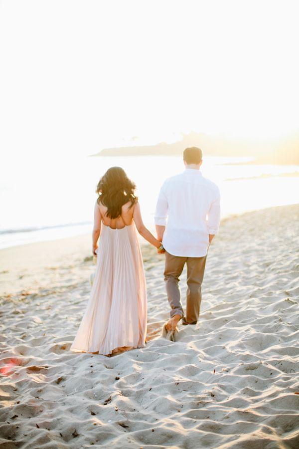 Romantic Sunset Laguna Beach Engagement Shoot