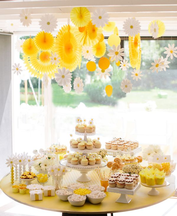 Beautiful Daisy Baby Shower Part - 9: From ...