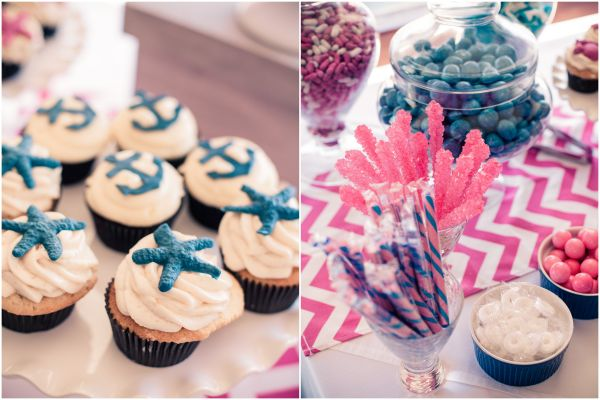 Pink and Blue Nautical Baby Shower - Inspired By This