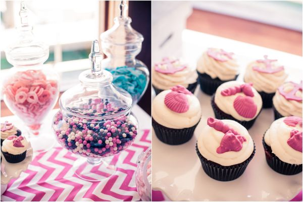 Inspired By This Pink and Blue Nautical Baby Shower