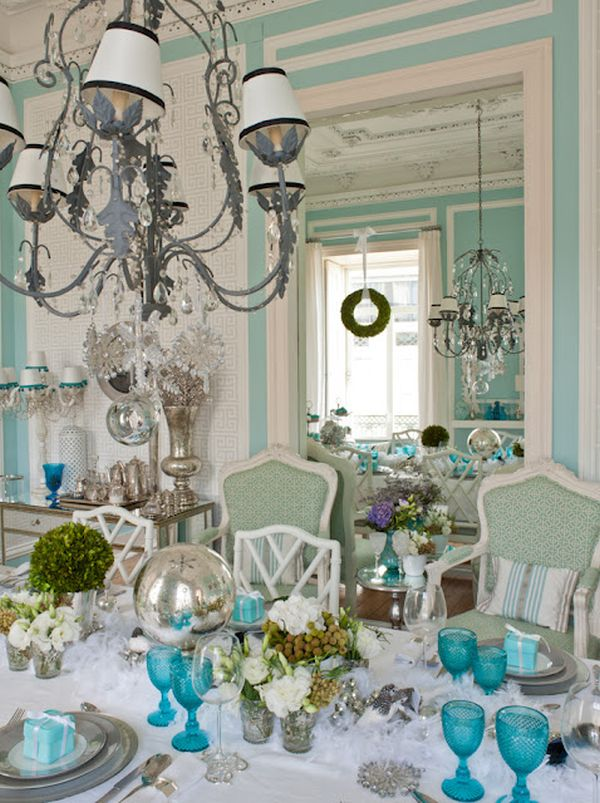 Glamorous home inspired by this for Pastel dining room ideas