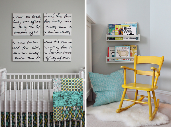 Neutral gray and yellow nursery inspired by this - White and grey nursery ideas ...