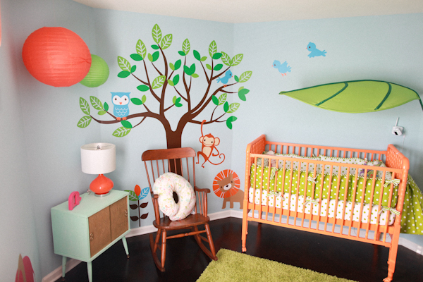 Children S Party Box Wall Art For Girl S Bedroom: Jungle Themed Nursery