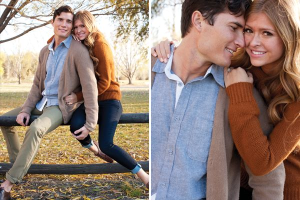 Fall Park And Lake Engagement